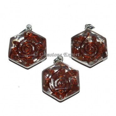 Red Jasper Star Orgonite Energy Pendant