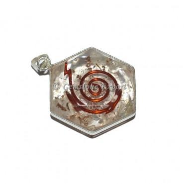 Crystal Quartz Orgonite Energy Pendant