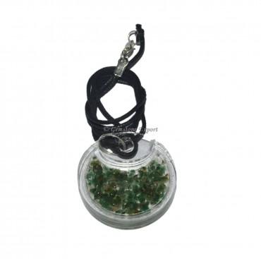Green Aventurine Acrylic Orgonite Pendant