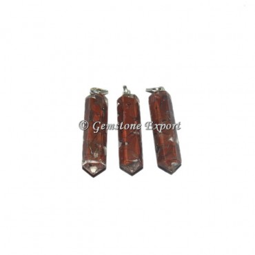 Red Jasper  Orgonite Pencil Pendant