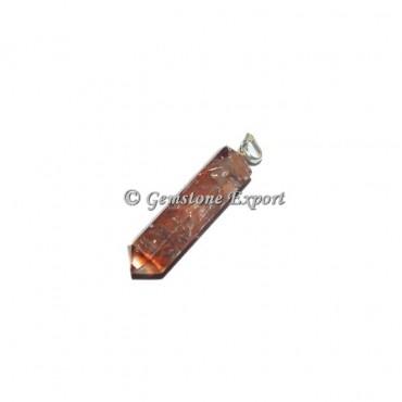 Carnelian Orgonite Pencil Pendant