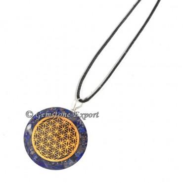 Lapis Lazuli Flower Of Life Orgone Pendants