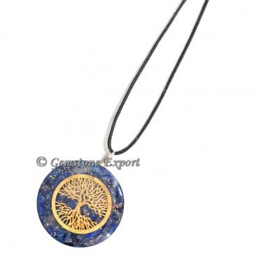 Lapis Lazuli Tree Of Life Orgone Pendants