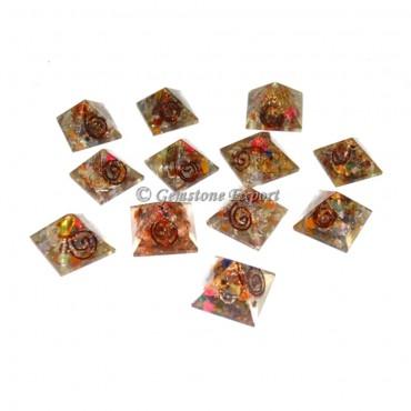 7 Chakra Orgone Baby Pyramid