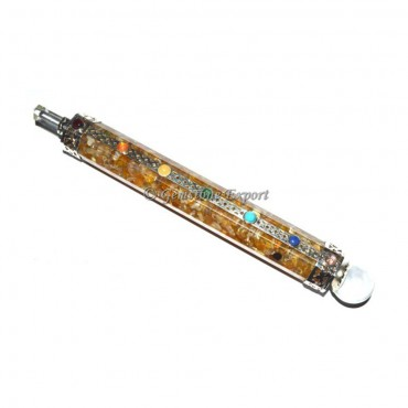 Golden Quartz Orgone Chakra Healing Wands
