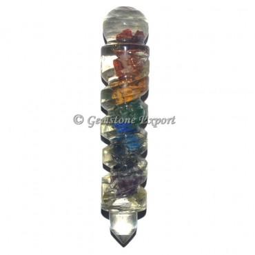7 Chakra Spiral Orgonite Healing Wands