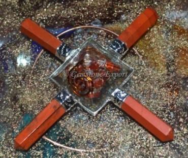 Orgone Red Jasper Healing generator
