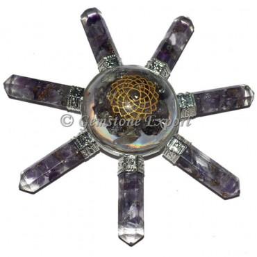 Amethyst Crown Chakra Orgone Energy Generator