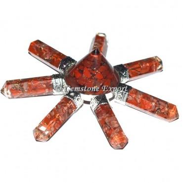 Red Jasper 7 Pencil Orgone Generator