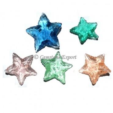 Colorfull Glass Star Arrowheads