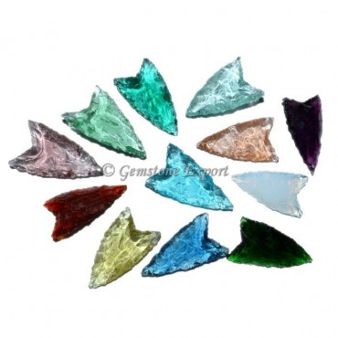Colorfull Glass Arrowheads