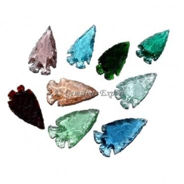 Long Colorfull  Glass Arrowheads