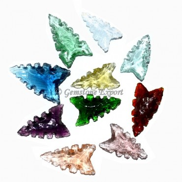 Colorfull Glass More Cur Arrowheads
