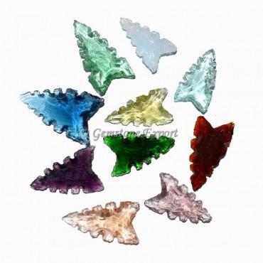 Glass Fancy Cut Arrowheads