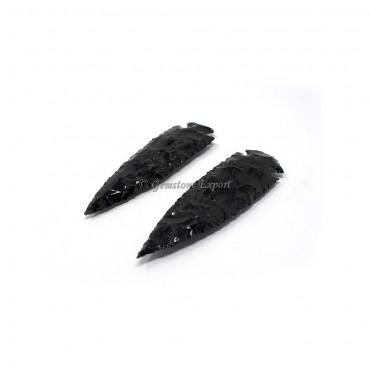 Black Obsidian 6 Inch Arrowheads