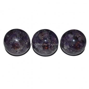 Amethyst Orgonite Sphere
