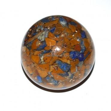 Mix Gemstone Orgonite Sphere