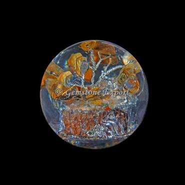 Tiger Eye Tree Orgonite Sphere