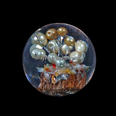 Pearls Tree Orgonite Sphere