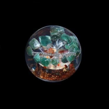 Green Jade Tree Orgonite Sphere