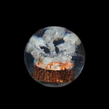 Crystal Quartz Tree Orgonite Sphere