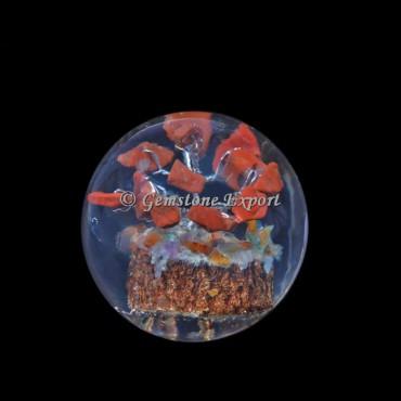 Red Jasper Tree Orgonite Sphere