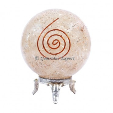 Rose Quartz Choko Reiki Orgonite Sphere