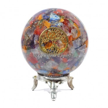 Seven Chakra Tree OF life Orgonite Sphere