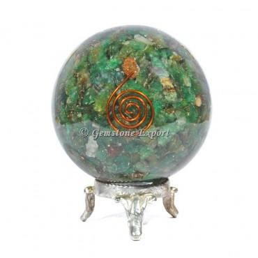 Green JadeChoko Reiki Orgonite Sphere