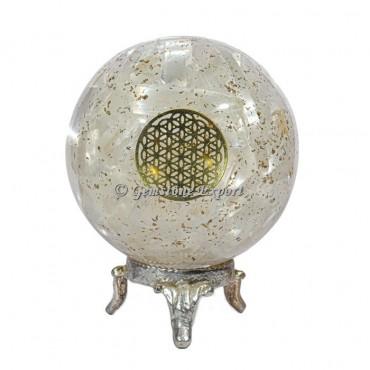 Selenite Orgonite Sphere