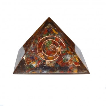Gemstone Orgone Pyramids