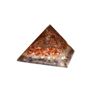 Carnellian and Crystal Energy Orgone Pyramids