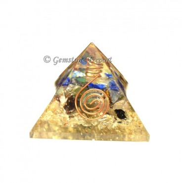 Quartz Energy Orgone Pyramids with Crystal Point
