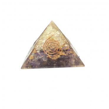 Crystal and Amethyst Orgone Pyramids