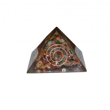 Multi Stone Energy Orgone Pyramid