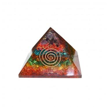 Chakra Layer Energy Orgone Pyramid