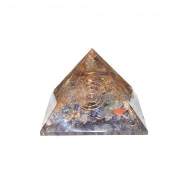 Quartz Orgone Pyramid with Crystal Point