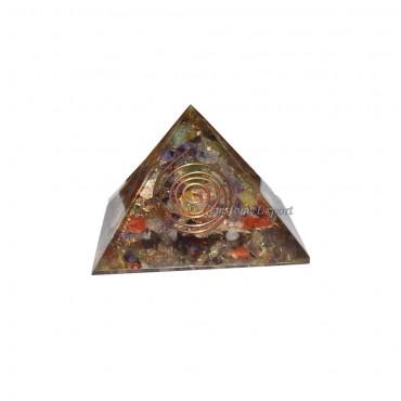 Mix Gemstone Energy Orgone Pyramids