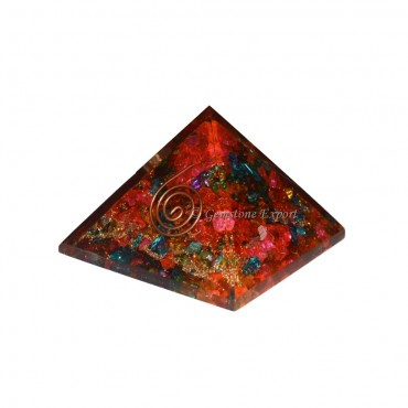 Colorfull Crystals Energy Orgone Pyramids