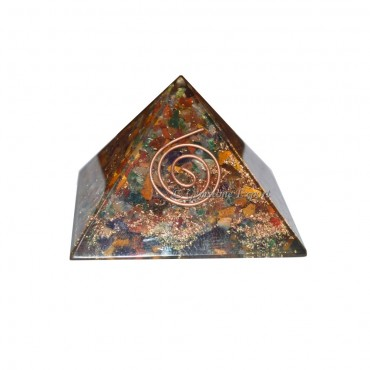 Multi Gemstone Enrgy Orgone Pyramids