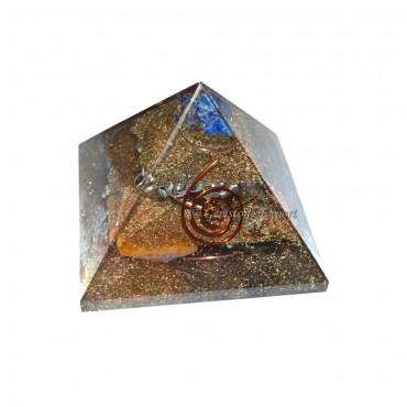Mix Gemstone Orgone Pyramids With Merkaba Star