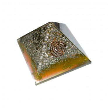 Orgone Gemstone Crystals Metal Color Pyramids