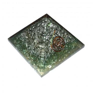 Green Opal Metal Orgone Pyramids