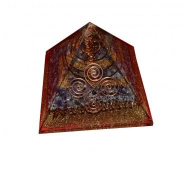 Orgone Full Brass wtith Amethyst Orgonite Pyramids