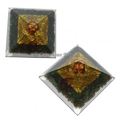 Green Aventurine Energy Orgonite Pyramid