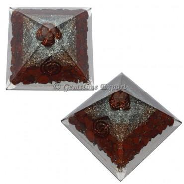 Red Jasper Energy Orgonite Pyramid
