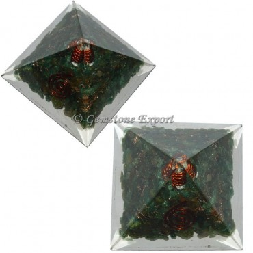 Green Jade Energy Orgonite Pyramid