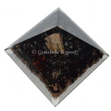 Black Tourmaline Orgonite Pyramid