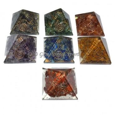 Seven Chakra Orgonite Pyramid Set