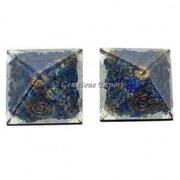 Lapis Lazuli Small Orgonite Pyramid